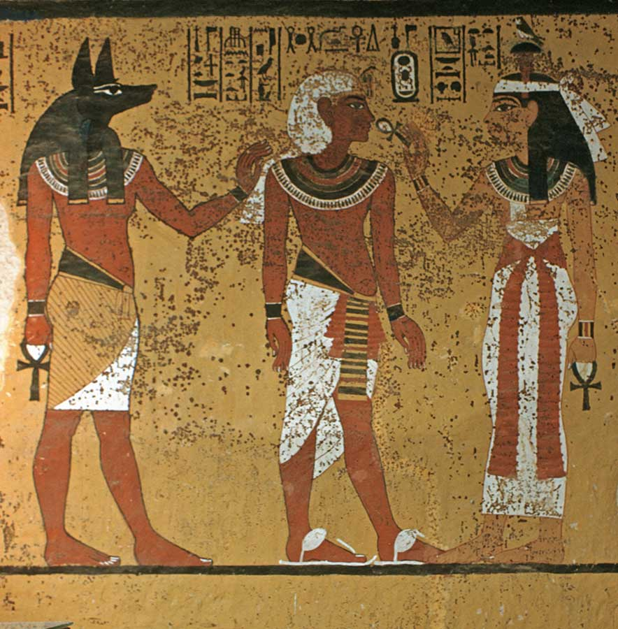 South Wall of Tutankhmun's tomb. Ancient Egypt. osirisnet.net